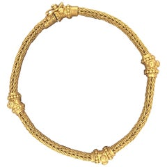 Carolyn Tyler Yellow Gold Braided Etrusca Bracelet