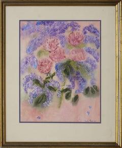 Mid Century Lilacs and Peonies Still Life