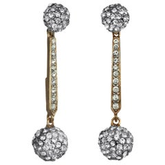 Carolyne Roehm x CINER Crystal Ball Drop Earrings