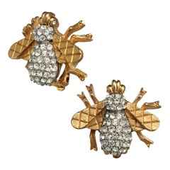 Carolyne Roehm x CINER Crystal Bee Button Earring