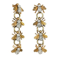 Carolyne Roehm x CINER Four  Drop Crystal Bee Earring
