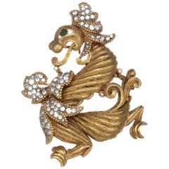Carolyne Roehm x CINER Gold Dragon Pin Pendant
