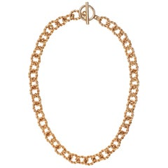 Carolyne Roehm x CINER Gold Mix Textured Round Chain