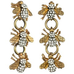 Carolyne Roehm x CINER Three Drop Crystal Bee Earring