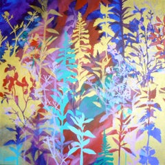 Chinoiserie, Painting, Acrylic on Canvas