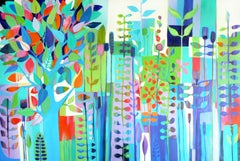 Rainbow garden, Painting, Acrylic on Canvas
