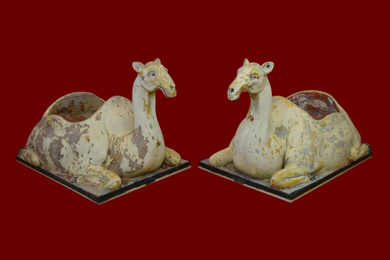 Carousel Camel Animals, 2 Pieces, Polyester, 1970s, Europe For Sale 14