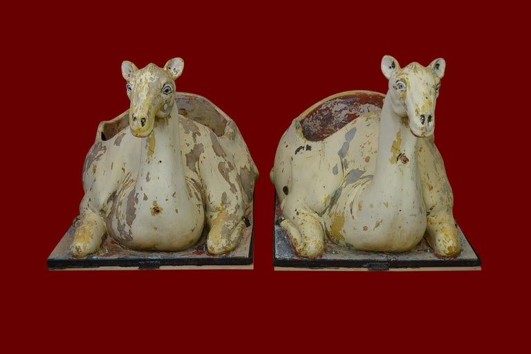 Carousel Camel Animals, 2 Pieces, Polyester, 1970s, Europe In Fair Condition For Sale In Antwerp, BE