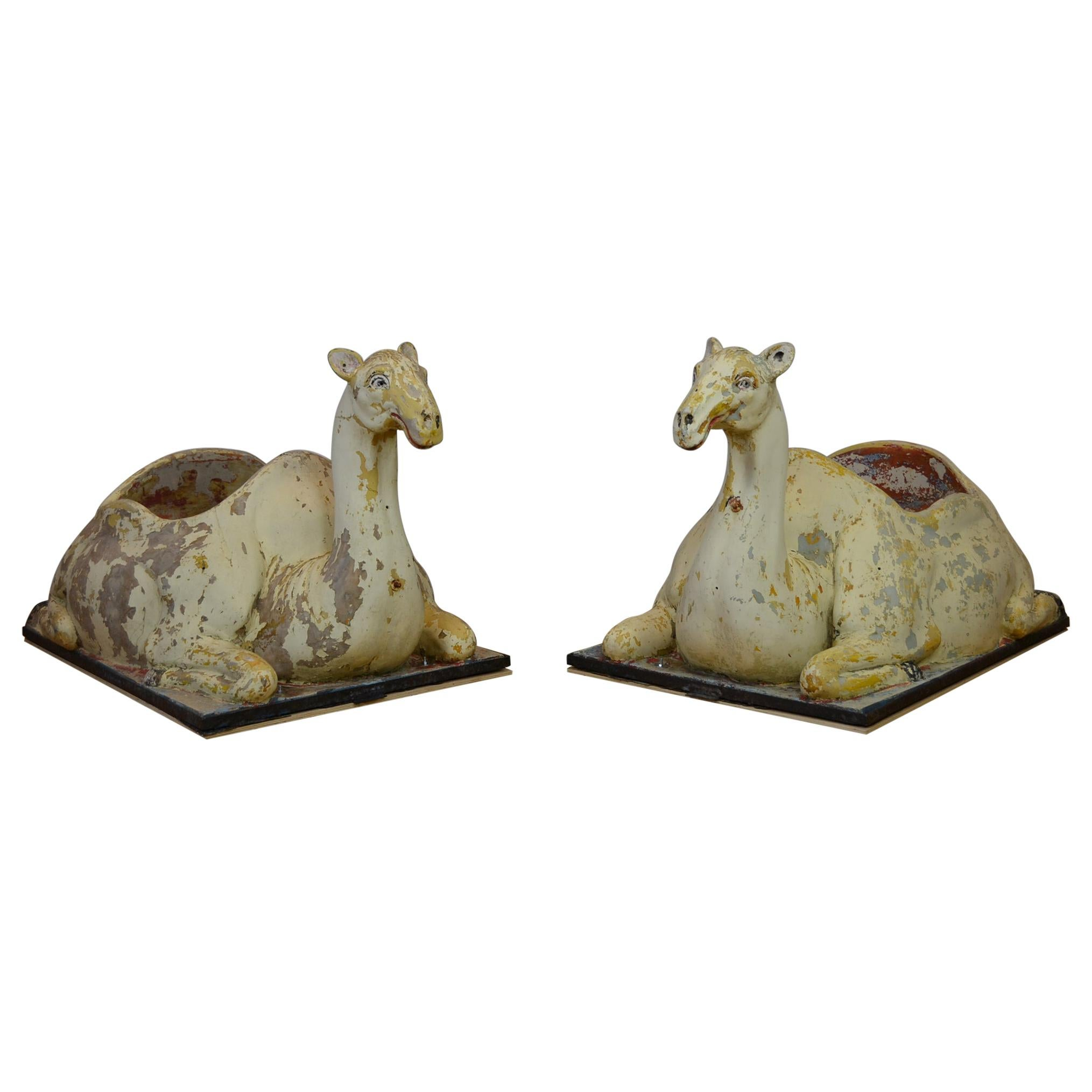 Carousel Camel Animals, 1970s, Europe, 2 pieces available