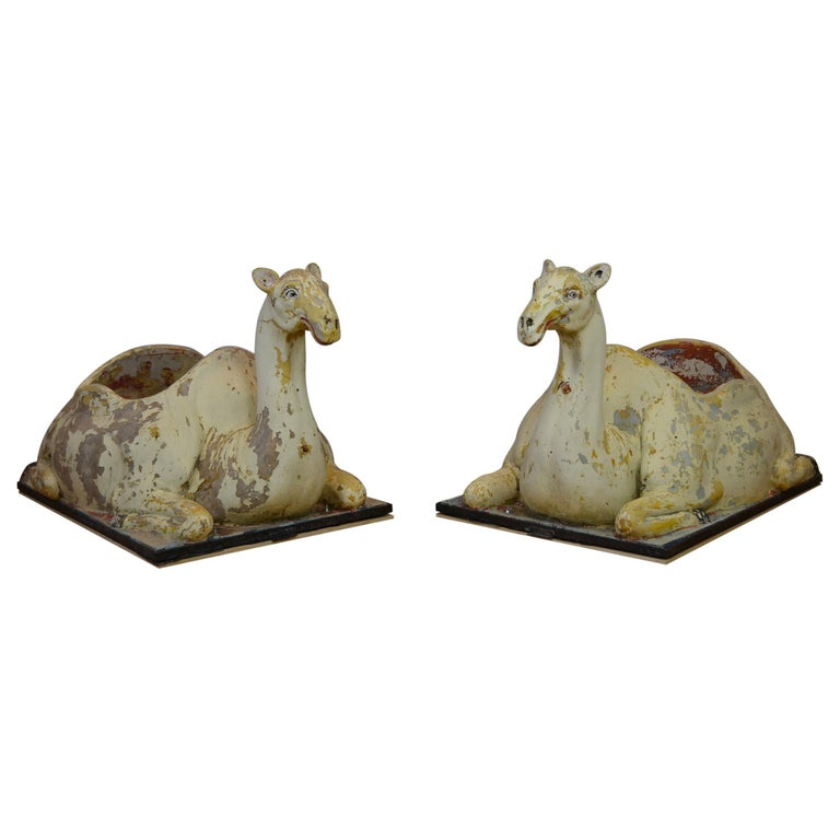 Carousel Camel Animals, 2 Pieces, Polyester, 1970s, Europe For Sale
