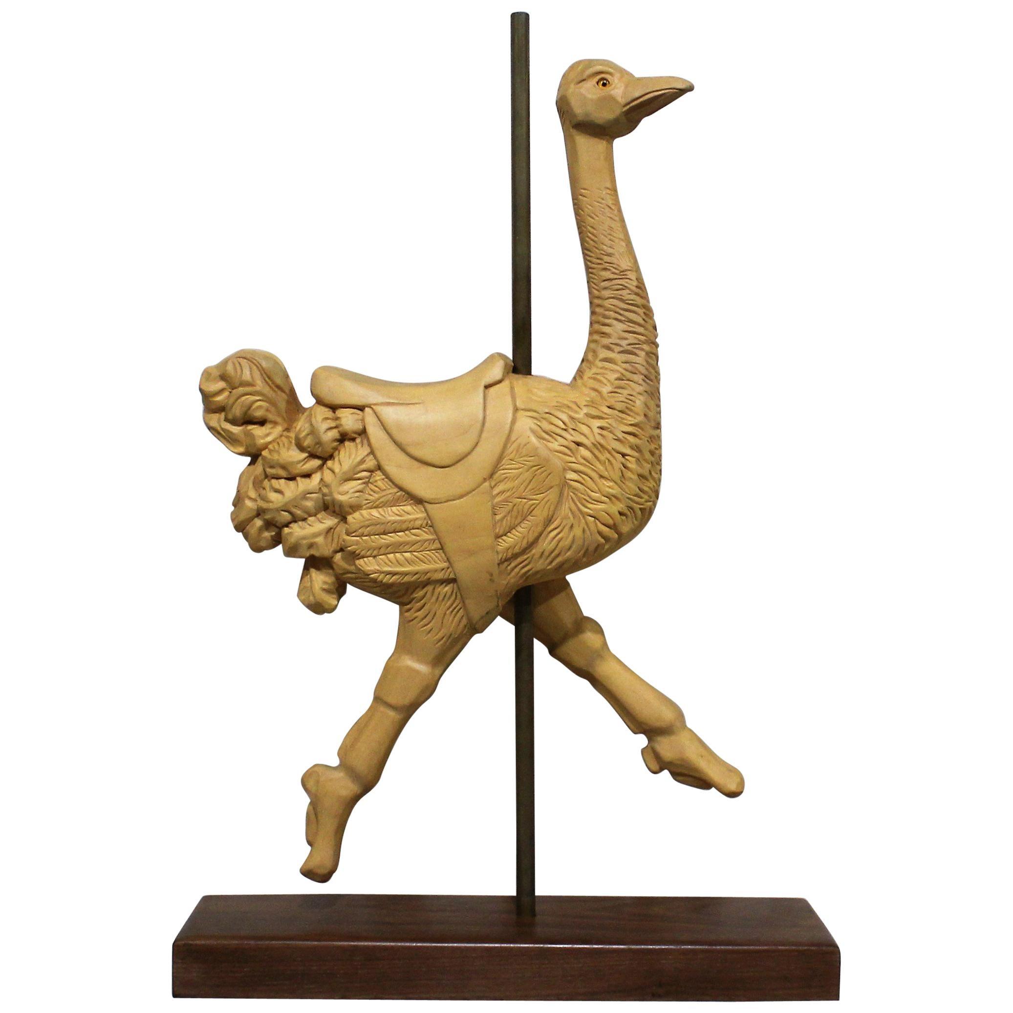 Carousel Ostrich Sculpture