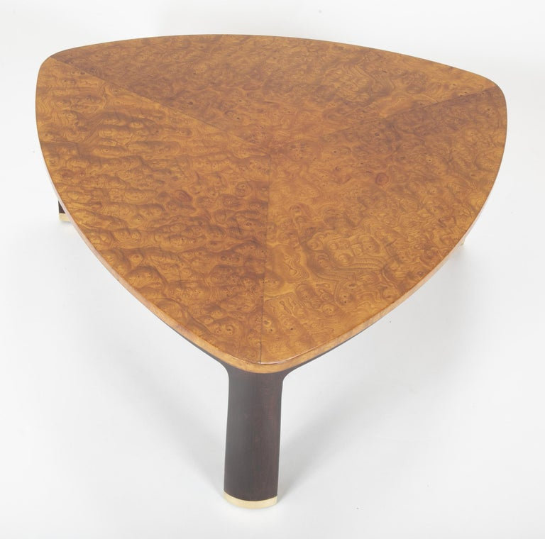 American Carpathian Elm Coffee Table Designed by Edward Wormley for Dunbar For Sale