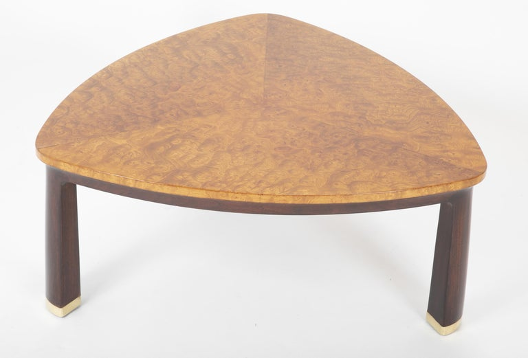Carpathian Elm Coffee Table Designed by Edward Wormley for Dunbar In Good Condition For Sale In Stamford, CT