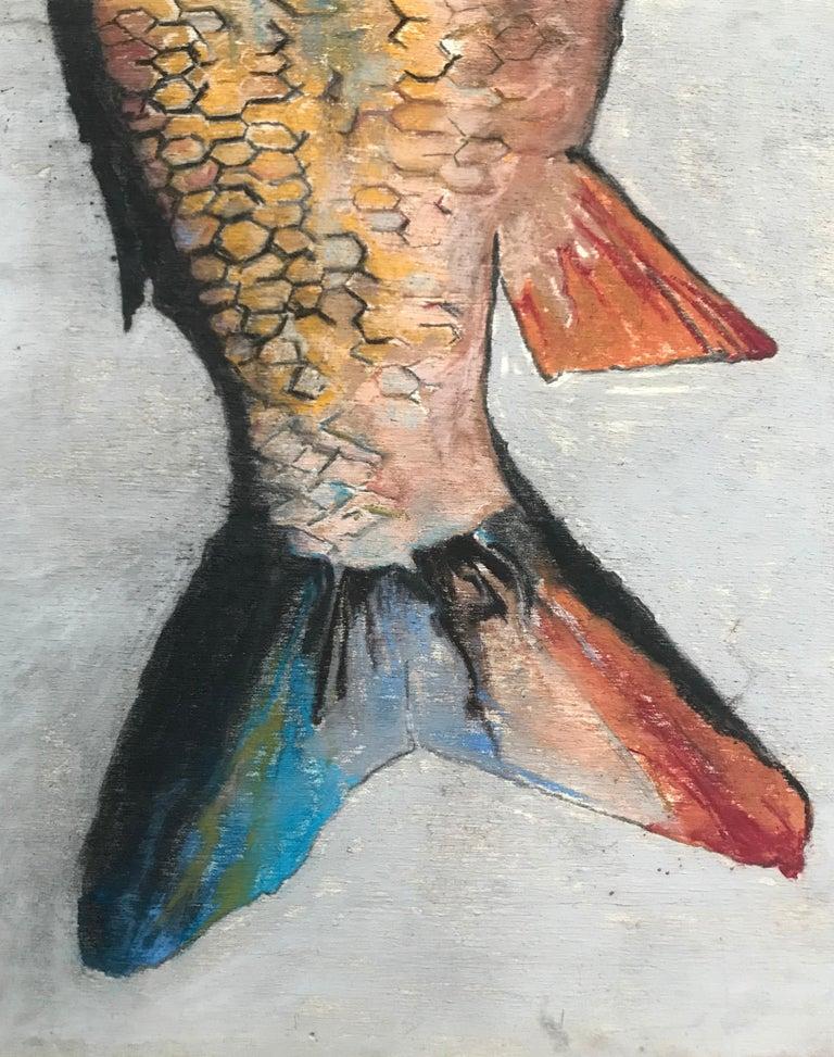 Contemporary Carpe Diem Fish Painting For Sale