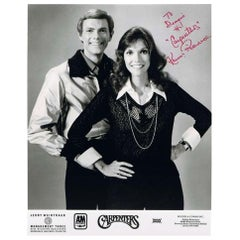 Carpenters 1970s Autographed Black and White Photograph