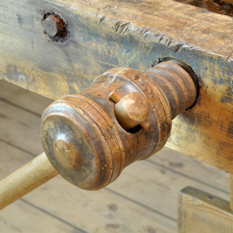Carpenters Oak Workbench, circa 1900 For Sale 4