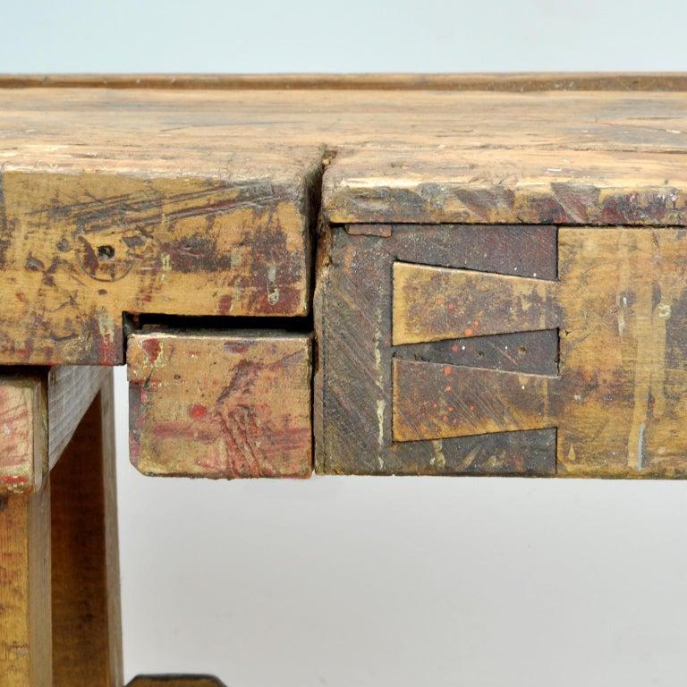 Carpenters Oak Workbench, circa 1900 For Sale 2