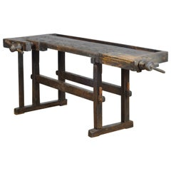 Carpenters Oak Workbench, circa 1900