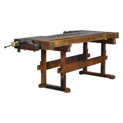 Carpenters Oak Workbench, circa 1920