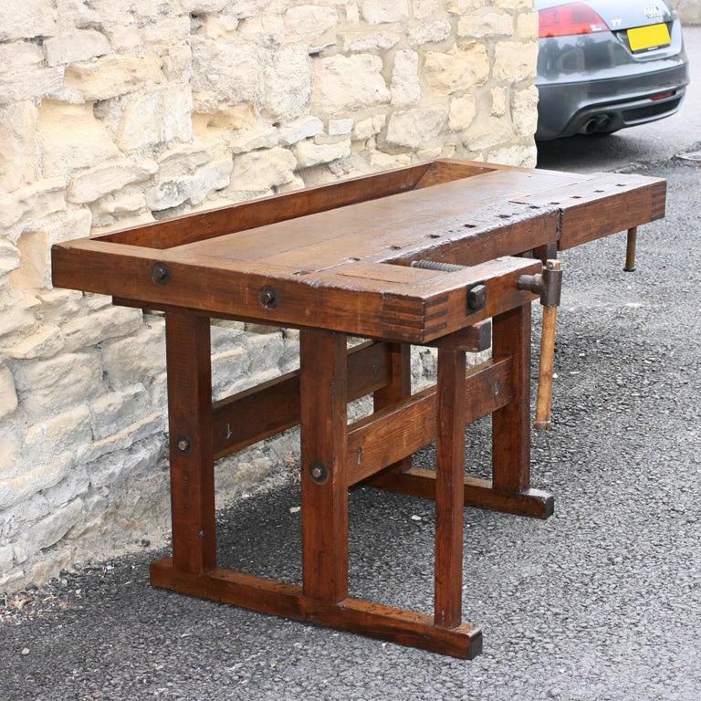 Antique Carpenter S Workbench Solid Wood German At 1stdibs