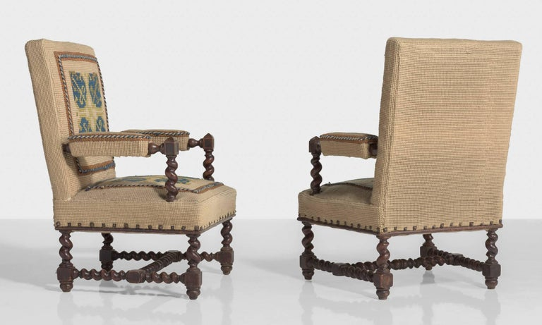 French Carpet Chairs, France, circa 1890 For Sale