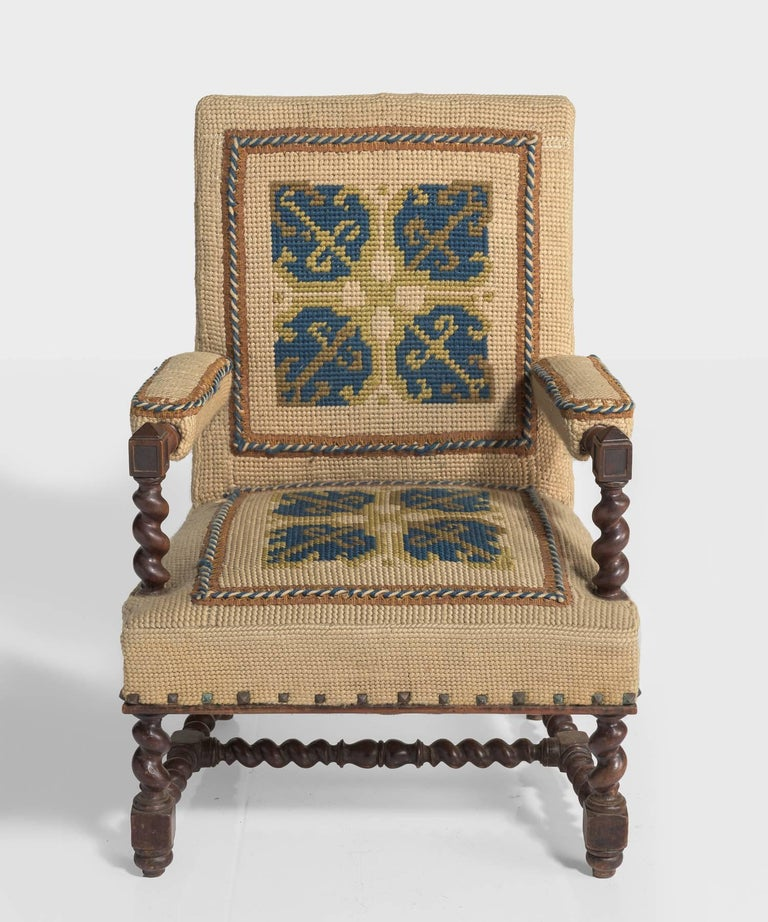 Carpet Chairs, France, circa 1890 In Good Condition For Sale In Culver City, CA