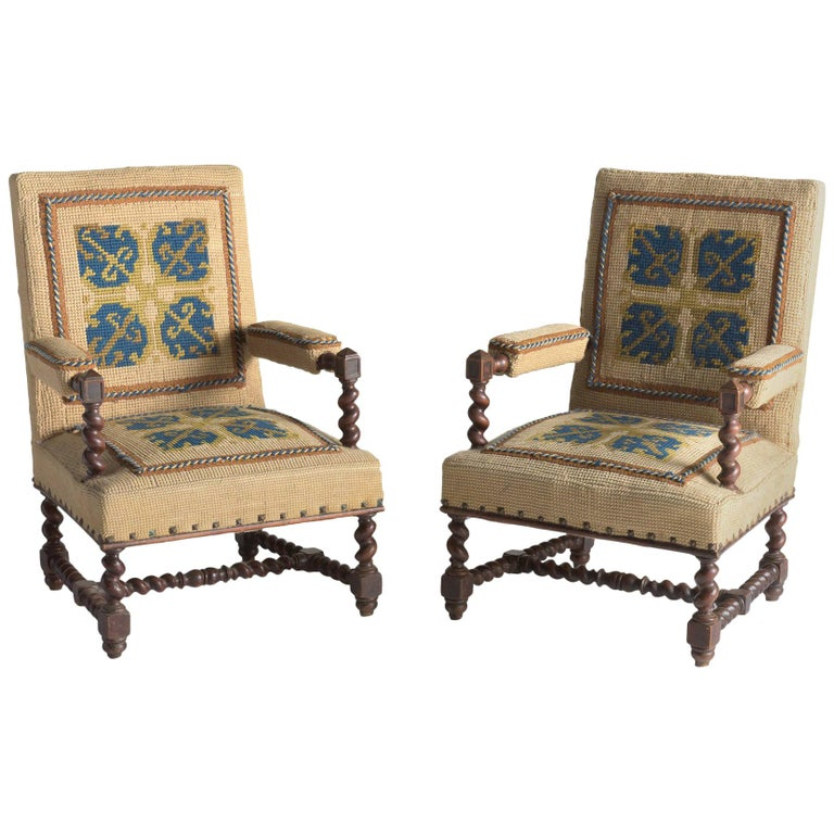 Carpet Chairs, France, circa 1890 For Sale