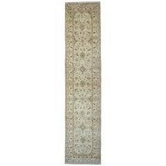 Carpet Runner Afghan Rugs, Cream Oriental Rug Runner, Handmade Carpet