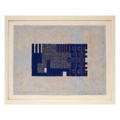 Carpet Sketch, Blue