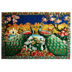 Carpet, Tapestry Wall Decoration Chinoiserie Style, Spain, 1970s