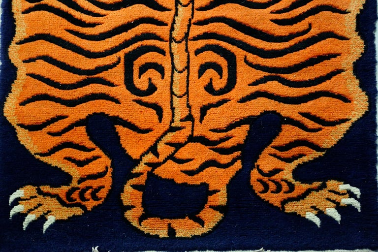 Modern Carpet Tibetian Tiger of the 20th Century For Sale
