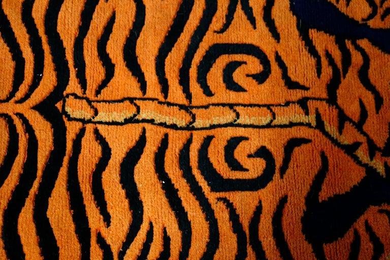 Tibetan Carpet Tibetian Tiger of the 20th Century For Sale
