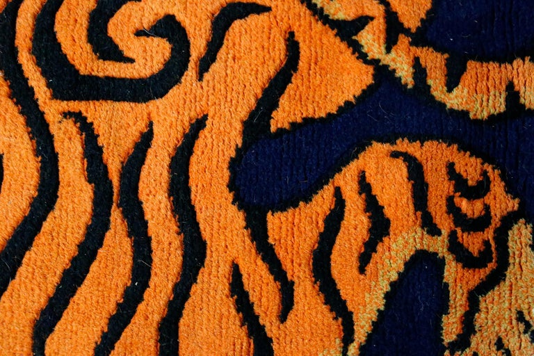 Wool Carpet Tibetian Tiger of the 20th Century For Sale