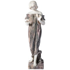 Carrara and Breccia Marble Sculpture, Signed L.C. Firenze, Italy, circa 1890