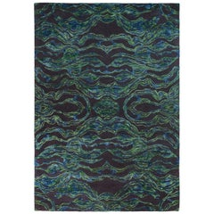 Carrara Large Green and Blue Rug by Matteo Cibic