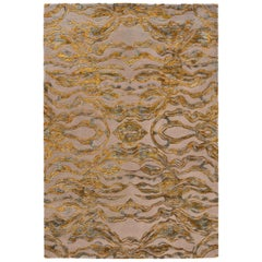 Carrara Large Yellow and Gray Rug by Matteo Cibic