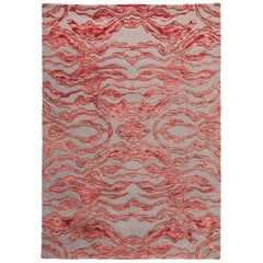Carrara Large Red and Gray Rug by Matteo Cibic