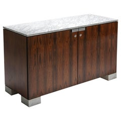 Carrara Marble and Rosewood Cabinet by De Coene
