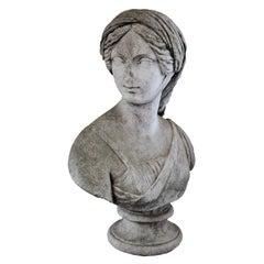Carrara Marble Bust of a Veiled Grand Italian Lady