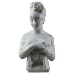 Carrara Marble Bust of Juliette Récamier after Joseph Chinard