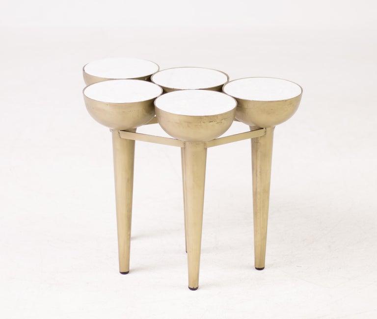 Art Nouveau Carrara Marble Cocktail Table For Sale