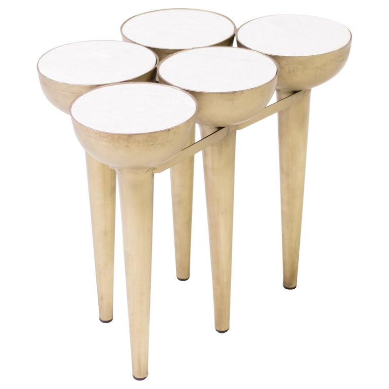 Carrara Marble Cocktail Table For Sale