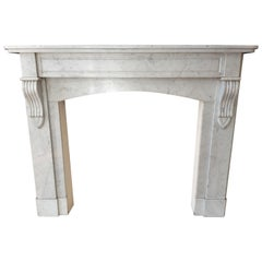 Carrara Marble Fireplace, Late 19th Century