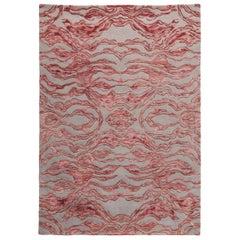Scarlet Splendour Mittelgroßer Carrara Teppich in Rot von Matteo Cibic