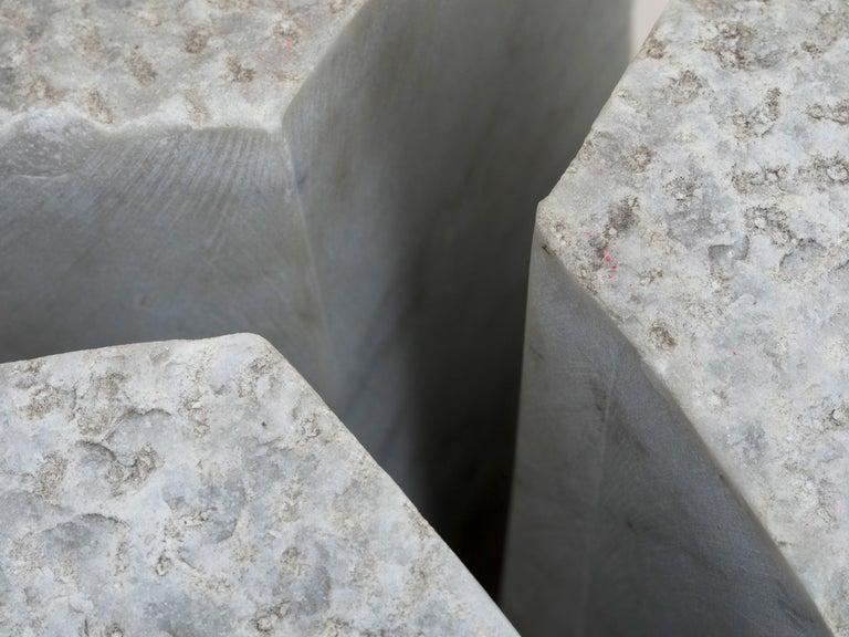 Italian Carrara Marble Sculpture by Hanna Eshel For Sale