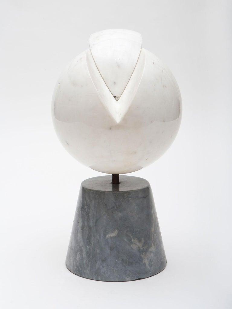Hand-Carved Carrara Marble Sculpture by Hanna Eshel For Sale