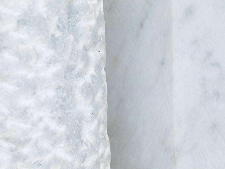 Carrara Marble Sculpture by Hanna Eshel In Excellent Condition For Sale In New York, NY