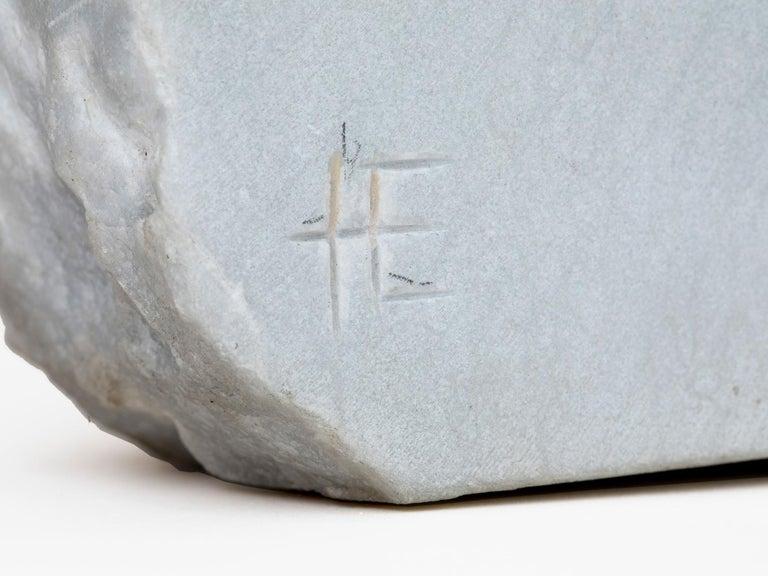 Late 20th Century Carrara Marble Sculpture by Hanna Eshel For Sale