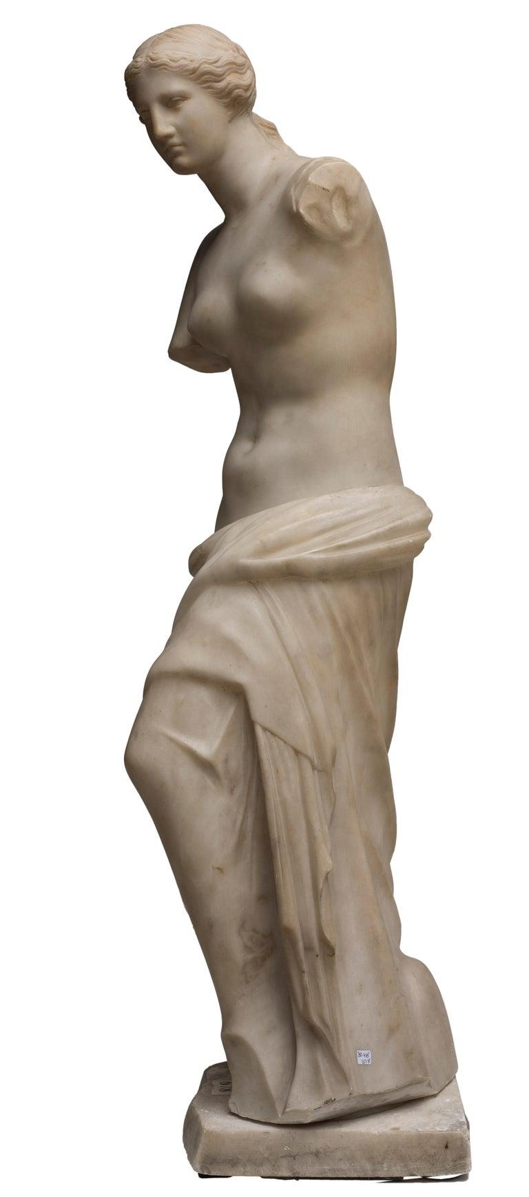 Early 19th Century Carrara Marble Sculpture Copy of Venus de Milo by French Sculptor, circa 1820 For Sale