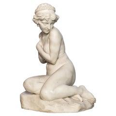 Carrara Marble Sculpture, Signed A. Gory Paris France, circa 1920